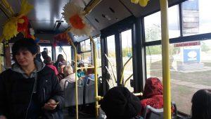 Святковий троллейбус на маршруті