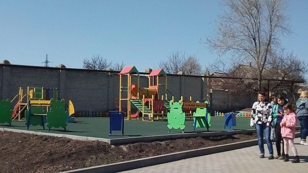 Відкриття дитячого дворика «Веселка»